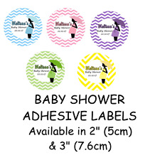 BABY SHOWER Pregnancy Self Adhesive Glossy Labels/Stickers Personalised