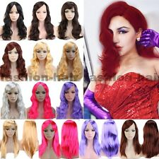Fun Cosplay Hair Wig Long Straight Curly Wavy Wig With Bangs Synthetic Women &ag