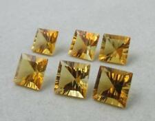 CITRINE YELLOW COLOR 5 MM TO 8 MM SQUARE SHAPE CONCAVE CUT LOOSE GEMSTONE