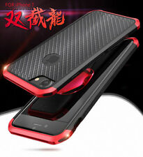 100% Carbon Fiber Back+Aluminium Metal Bumper Case Cover For iPhone 8/7/6/S Plus
