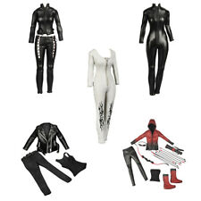1/6 Scale Female Leather Clothing Set For 12'' Hot Toys Sideshow Action Figure