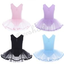 NEW Girl Gymnastic Tulle Tutu Skirt Skate Ballet Dancewear Leotard Dress Costume