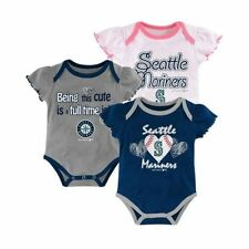 NEW Set of 3 One-Piece Bodysuit Seattle Mariners - Girls Infant - FREE Shipping!