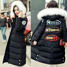 2017 Hot Women's 100% Real Fur Collar Down Jacket Winter Coat Long Sleeves Parka