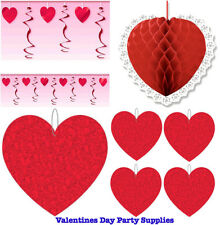 Valentines Day Party Supplies ~ Swirl Garland,Honeycomb Ball,Keychain,Red Heart