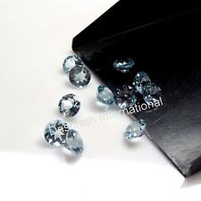 1MM TO 8 MM ROUND SKY BLUE TOPAZ NATURAL LOOSE GEMSTONE FACETED CUT BRAZIL