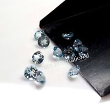 1MM TO 8 MM ROUND SKY BLUE TOPAZ NATURAL LOOSE GEMSTONE FACETED CUT