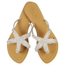 NEW Phoebe leather sandals in silver Women's by Annie Clare