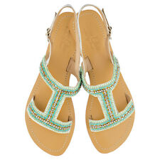 NEW Emily leather sandals in mint/turquoise Women's by Annie Clare