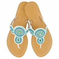 NEW Girls' leather sandals in turquoise/white Girl's by Annie Clare