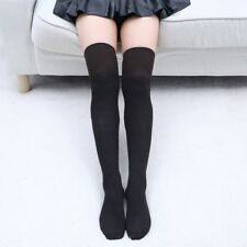 Fashionable Solid Cotton Socks Thigh High Over The Knee Stockings For Women