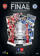 MINT EMIRATES FA CUP FINAL 2017 OFFICIAL PROGRAMME- CHELSEA V ARSENAL -27/05/17