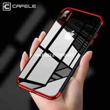 For iPhone X 8 7 Plu Luxury Plating Ultra Thin Soft TPU Gel Back Case Cover S003