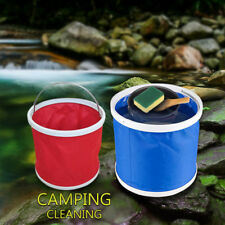 Portable Lightweight Canvas Foldable 11L Bucket Outdoor Camping Fishing Buckets