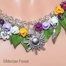 Life Springs Forth Crocus Pagan Necklace - Wicca, Imbolc, Spring Clay Jewellery