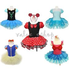 Girls Kids Minnie Mouse Mermaid Ballet Tutu Fancy Dress Up Party Costume Outfits