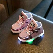 Hello Kitty Led Sneakers Light Lace Up Kids Shoes Lace Up Luminous Girls Shoes