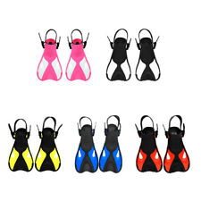 Kids Adjustable Fins Flippers Scuba Diving Snorkeling Swimming Training Aid Shoe