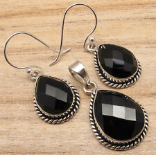 Earrings & Pendant SET, 925 Silver Plated Gemstone Jewelry Brand New