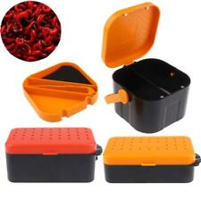 Fishing Lure Bait Tackle Storage Box Case Earthworm Live Baits Container
