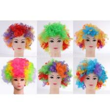 Multi Color Rainbow Afro Wig Clown Circus Costume Bob Curly Hair Wig Fancy Dress