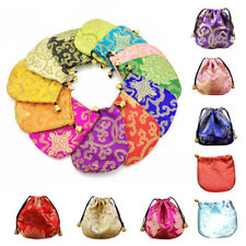 Jewelry 1 Pcs Silk Bags Ethnic Style Drawstring Drawstring Pouch Embroidery