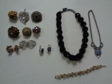 14 Pc Lot Vintage Costume Jewelry Necklaces Earrings Brooches Pins Bracelet