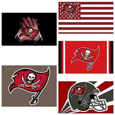 5 STYLES Tampa Bay Buccaneers Flag Banner NFL Team 3x5 ft Flag High Quality