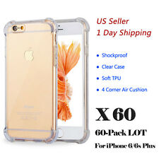 LOT For iPhone 6/6s Plus Hybrid TPU Clear Case Bumper Shockproof Cover Wholesale