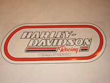 "HARLEY DAVIDSON RACING TEAM SPONSOR VINTAGE (INSIDE) XL DECAL17.5"" X 8"" NEW"