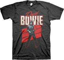 OFFICIAL LICENSED - DAVID BOWIE - RED SAX T SHIRT ZIGGY STARDUST IMPORT