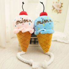 Pet Dog Cat Puppy Chew Squeaker Squeaky Sound Toys Plush Ice Cream Toy Dulcet