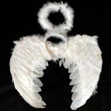 Kid Adult Angel Wings Fancy Dress Fairy Feather Outfit Large Party Halloween US
