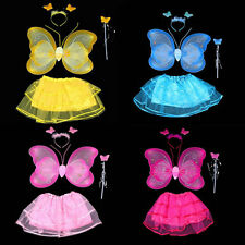 Newest Girls Fairy Princess Angel Dress Up Set Fancy Dress Costume Outfit Wings8