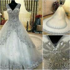 New White Ivory Lace Ball Gown Wedding Dress Bridal Gowns Size 6+8+10+12+14+16 W