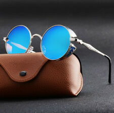 Fashion Mens Sunglasses Retro Design Round Sun Glasses Steampunk Shades Women