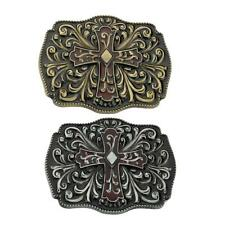 Vintage Rodeo Celtic Flowers Belt Buckle Leather Belt Cowboy Western Buckle