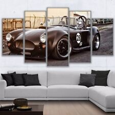 Retro Black Sports Car Paintings Abstract Poster Canvas Wall Art Home Decor