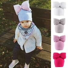 Cute Newborn Baby Girl Infant Toddler Kids Soft Cotton Cap Beanie Bow Hat