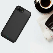 Black Battery Case Backup Cover Charger Wireless Power Bank For Apple iPhone 8 7