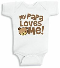 Lil Shirts My Papa Loves Me Baby Bodysuit