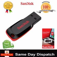 SanDisk 8GB - 128GB Cruzer Blade USB Flash Pen Drive Memory Stick New UK Stock