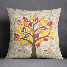 S4Sassy Decorative Tree Printed Indian Sofa Cushion Cover Throw Pillow Case