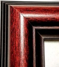 Rounded Cherry Picture Frame, REAL WOOD, Black Edge, ALL SIZES, Photo Frame 5x7