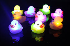 1X Baby Kids Bath Bathing Duck Funny Multi Color Changing Flashing LED Toy CAHU