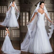 New White Ivory Lace Ball Gown Wedding Dress Bridal Gowns Size 6+8+10+12+14+16RD