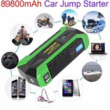 89800mAh 4 USB 12V Car Jump Starter Power Bank Emergency Booster Charger Battery