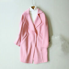 spring winter woman nine point sleeve. suit collar, double sided sheep wool coat