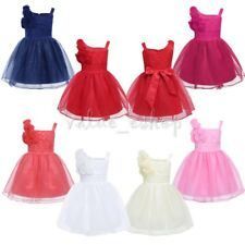 Baby Roses Flower Girl Dress Girls Princess Party Wedding Pageant Formal Dresses