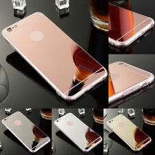 For Apple iPhone 8 8 Plus Luxury Ultra-thin Chrome Mirror Soft Gel TPU Hard Case